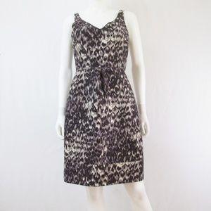 J. Crew Dresses - J. Crew | Purple Leopard Print Wool Blend Dress